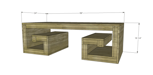 Free Plans to Build a Horchow Inspired Key Coffee Table