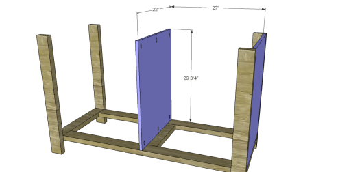 Free Plans to Build a New American Barnwood Kitchen Island_Cabinet Sides