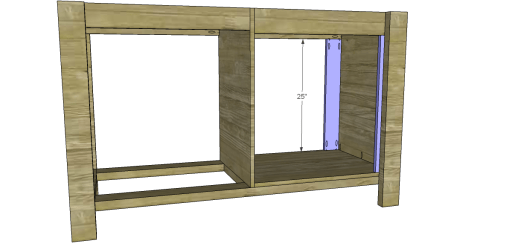 Free Plans to Build a New American Barnwood Kitchen Island_Door Hinge Pieces