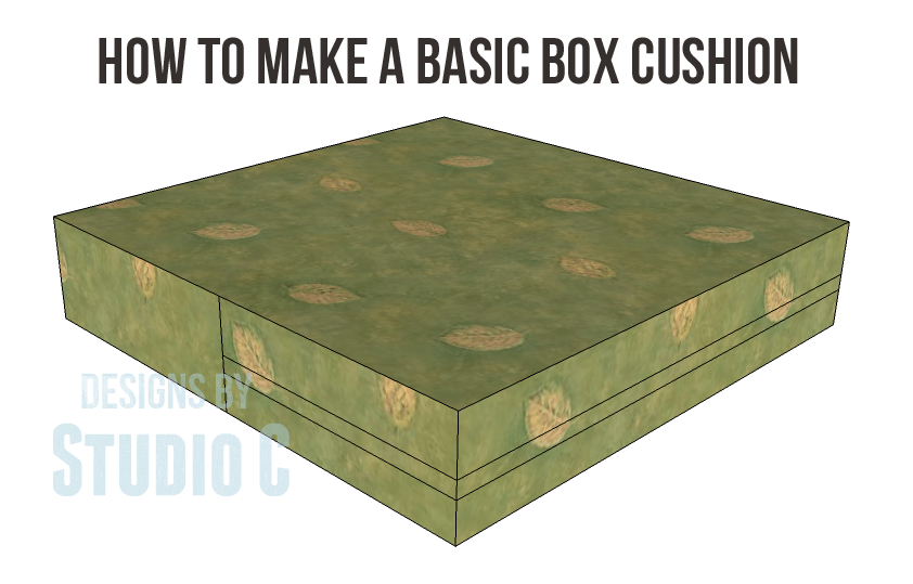 how to make a basic box cushion. Black Bedroom Furniture Sets. Home Design Ideas