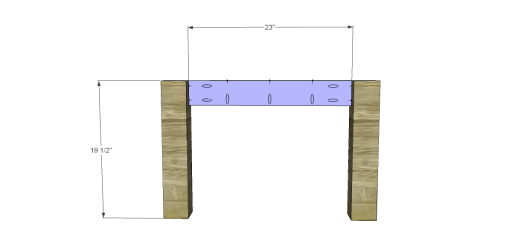 Free Plans for a Joss & Main Inspired Lodge Coffee Table_Sides