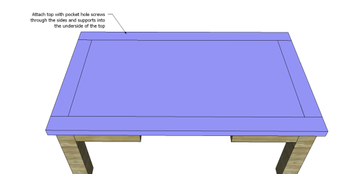 Free Plans for a Joss & Main Inspired Lodge Coffee Table_Top 2