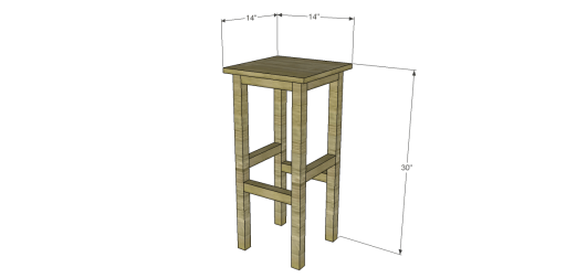 Free Plans to Build Napa Style Inspired American Barnwood Stools