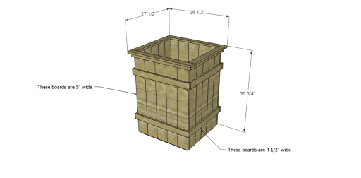Free Plans to Build Robin's Planter Boxes