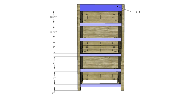 free plans to build a farmhouse chest_Front Stretchers