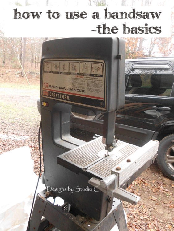How to Use a Bandsaw - the Basics SANY1764