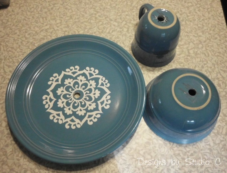 How to Make a Jewelry & Makeup Holder with Dinnerware SANY1980