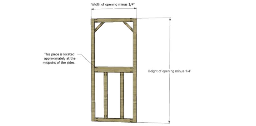 how to build a screen door