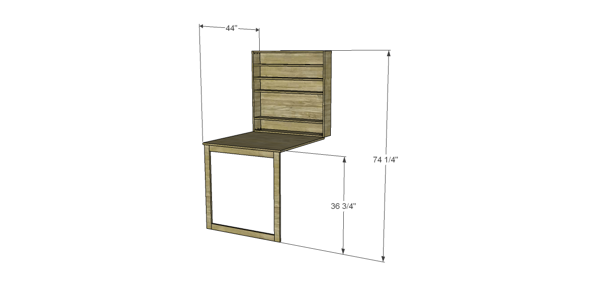 Free plans to build a napa style inspired fold down table for Diy fold down desk