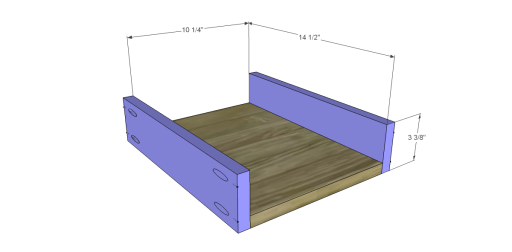 Free Plans to Build a Demilune Console Table_Drawer BS