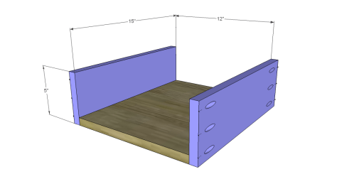 Free Plans to Build a Demilune Console Table_Drawer Shelf 1
