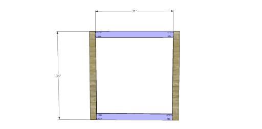 Free Plans to Build a Napa Style Inspired Fold Down Table_Frame 1