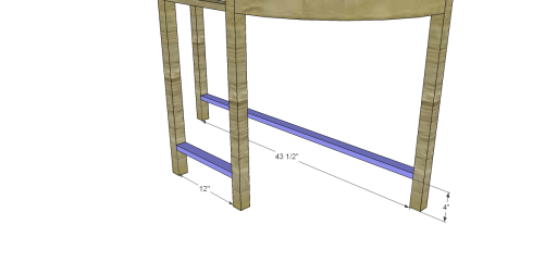 Free Plans to Build a Demilune Console Table_Stretchers 1