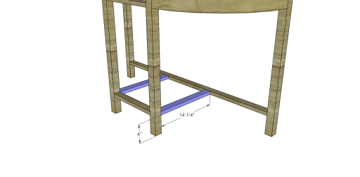 Free Plans to Build a Demilune Console Table_Stretchers 2