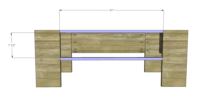 free plans to build a world market inspired ross coffee table _Front Stretchers