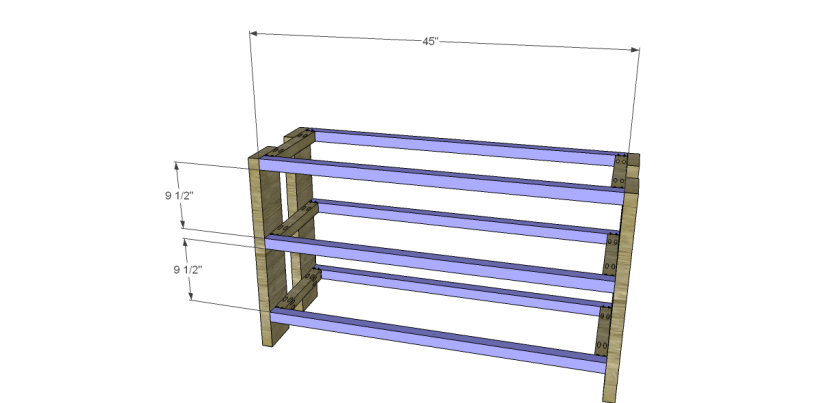 free plans to build a Hammary inspired Luberon console table_Stretchers
