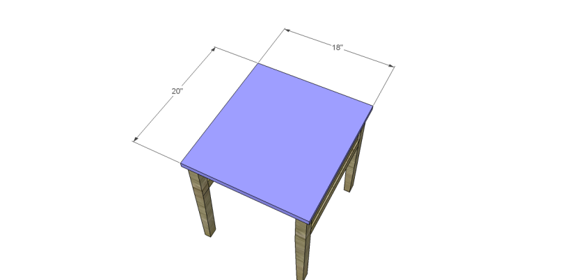 free plans to build a joss main inspired banyan end table_Top