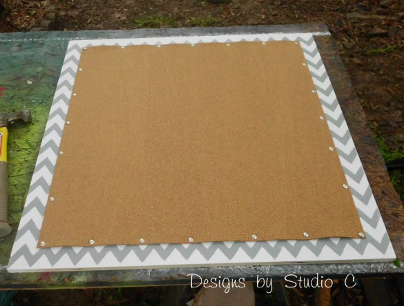 How to Make a Cork Board out of an Old Screen Door SANY2133