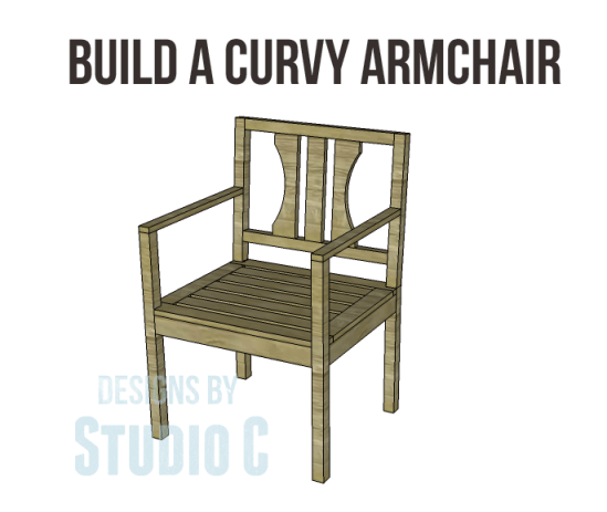 Free plans to build a curvy armchair for Armchair builder
