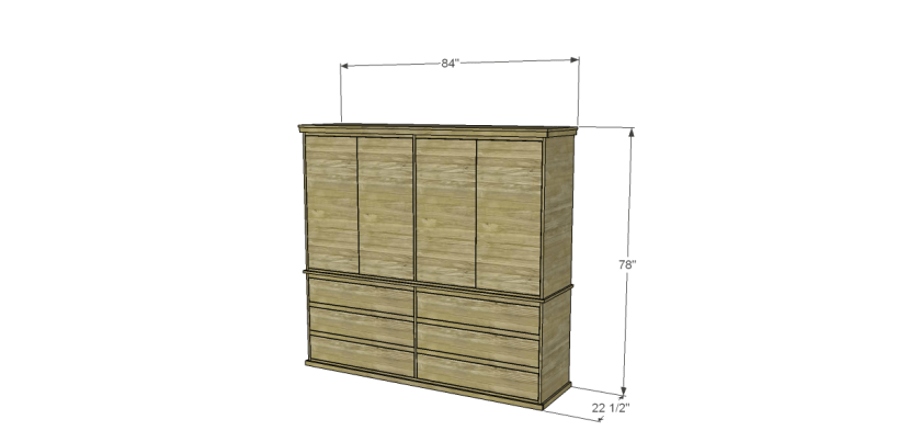 free plans to build daves two piece armoire