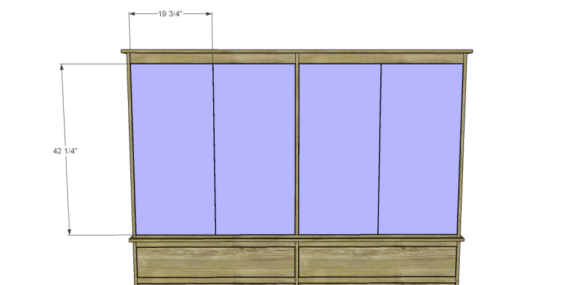 free plans to build daves two piece armoire_Doors