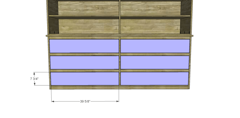 free plans to build daves two piece armoire_Drawer Fronts