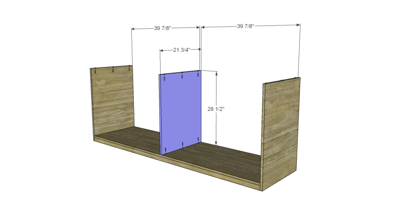 free plans to build daves two piece armoire_Lower Divider