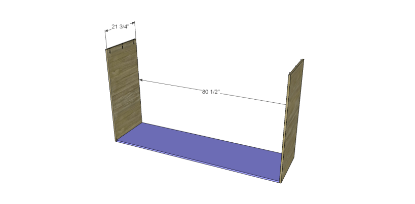 free plans to build daves two piece armoire_Upper Base & Sides