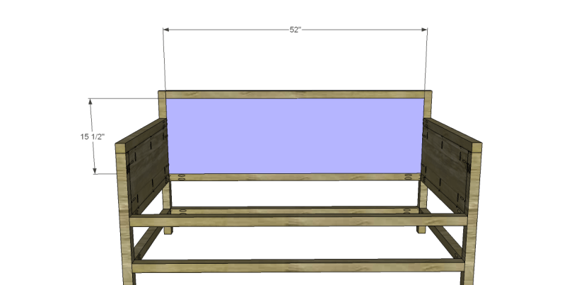 free plans to build a world market inspired raya daybed_Back Panel