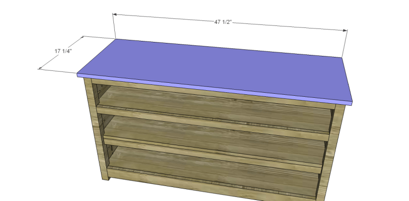 free plans to build a pier one inspired glenfield media stand_Top