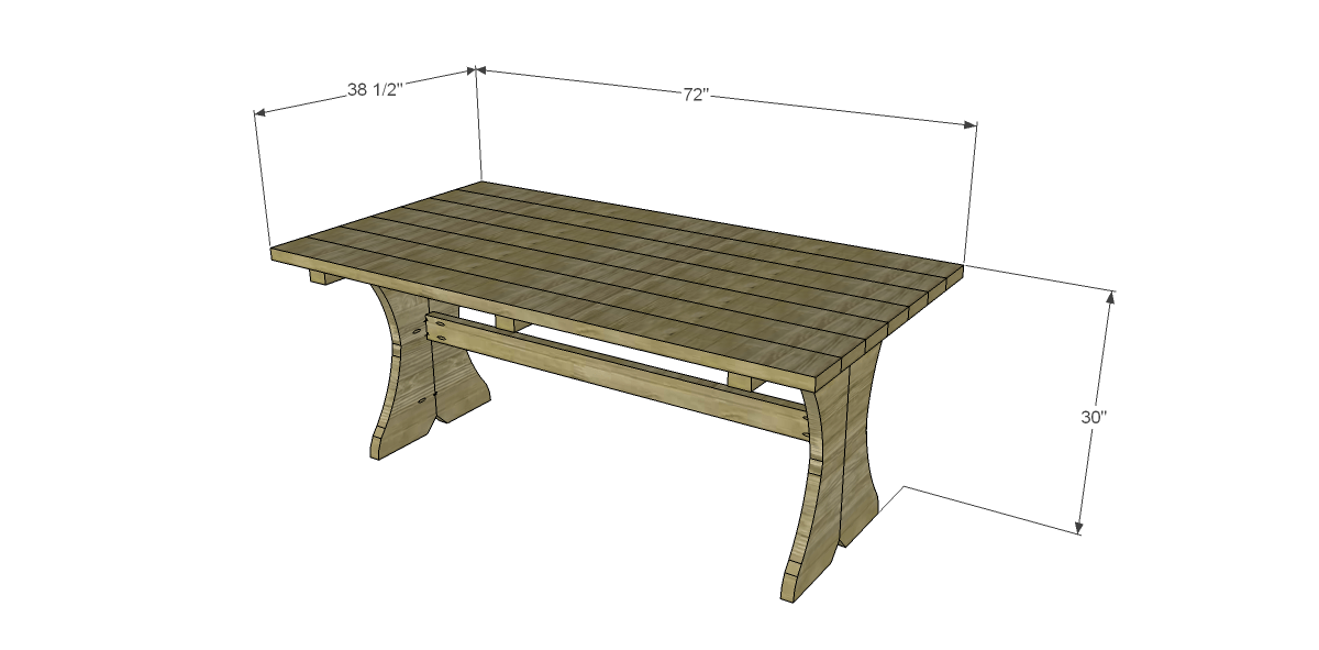 Free plans to build a curvy dining table for Free dining table plans