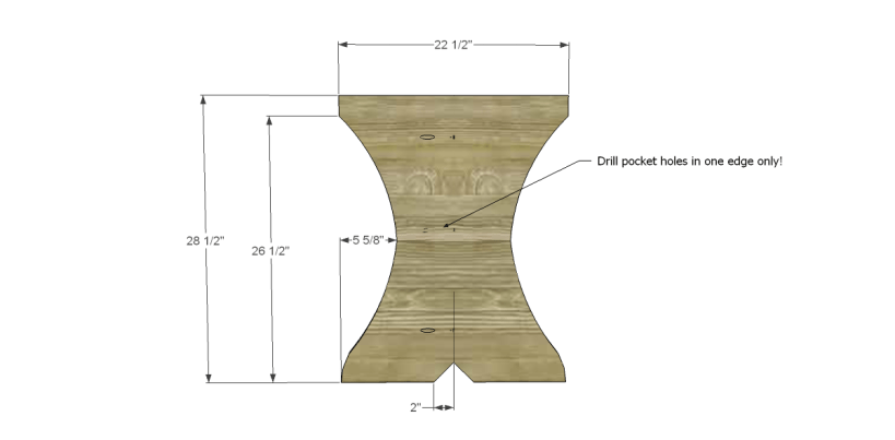 free plans to build a curvy dining table_Leg