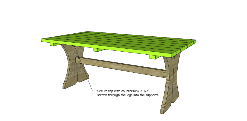 free plans to build a curvy dining table_Top 2