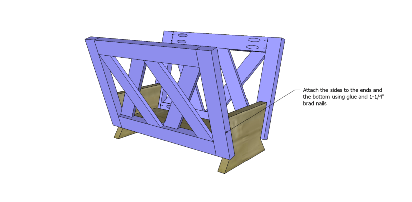 free plans to build a midland magazine rack_Sides 2