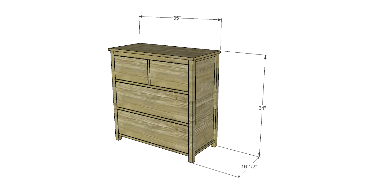 free diy woodworking plans to build a plain dresser