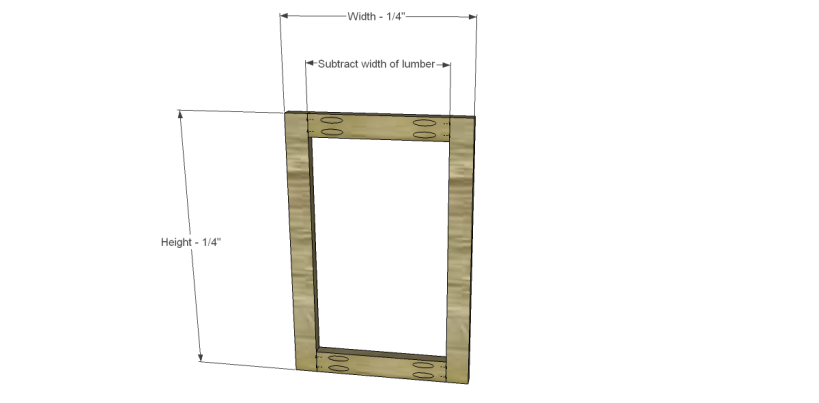 how to build doors for an existing furniture cabinet Frame