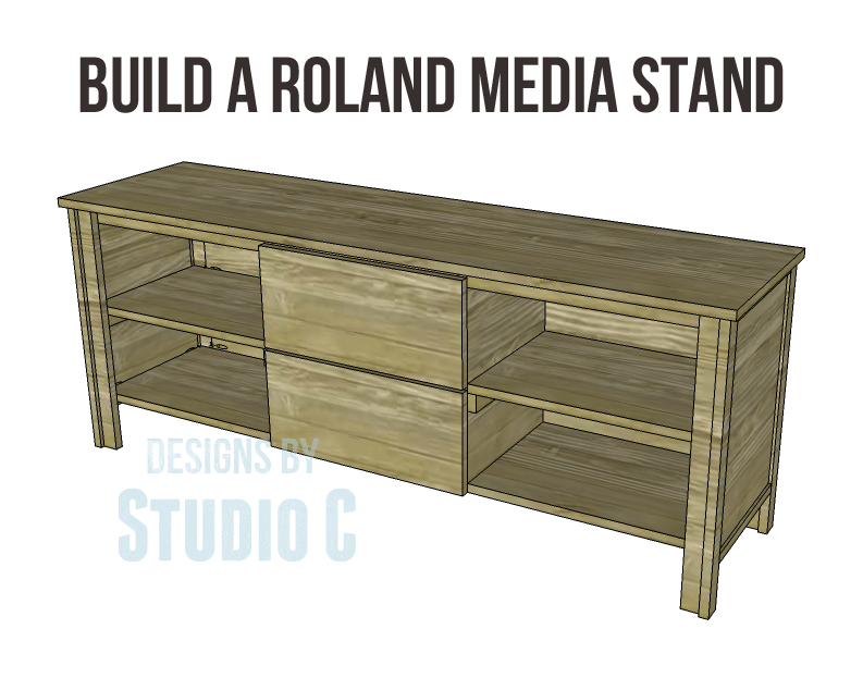 Free Diy Woodworking Plans To Build A Roland Media Stand