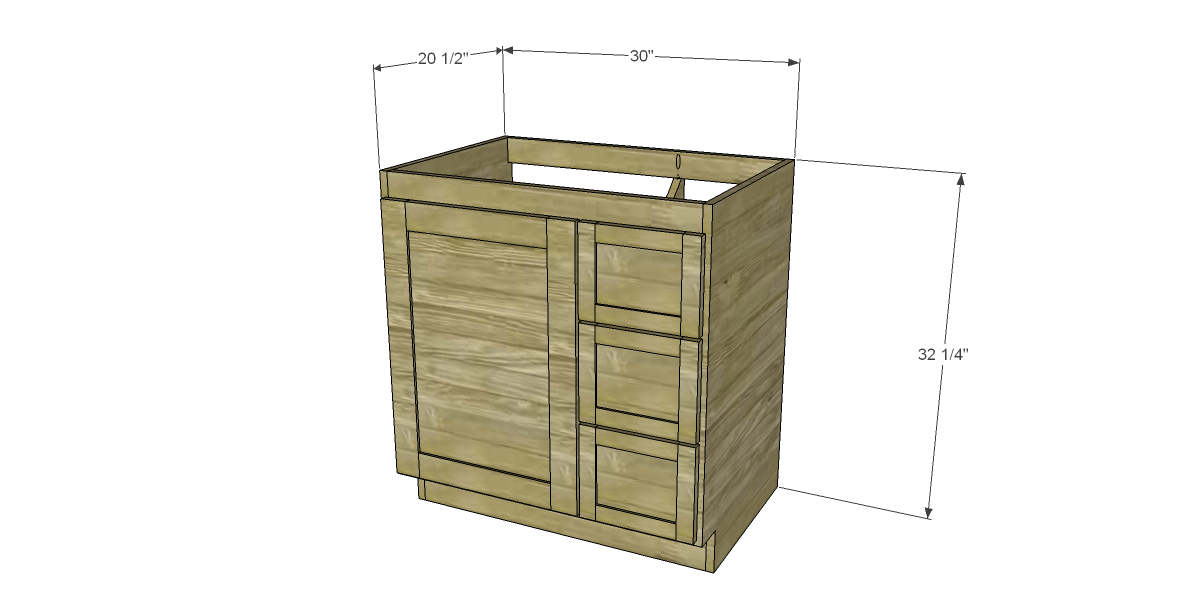 Free diy woodworking plans to build a custom bath vanity for Bathroom vanity plans