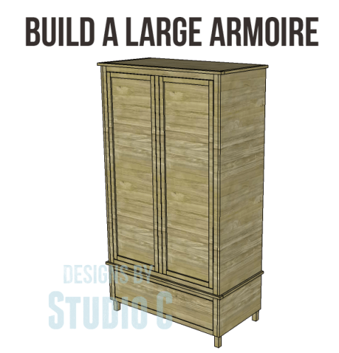 free DIY woodworking plans to build a large armoire_Copy