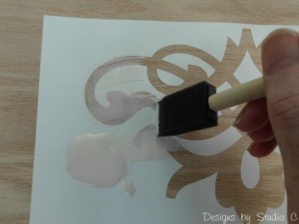 use glue resist technique with stain SANY2535