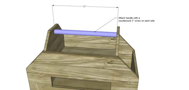diy plans toolbox_Handle