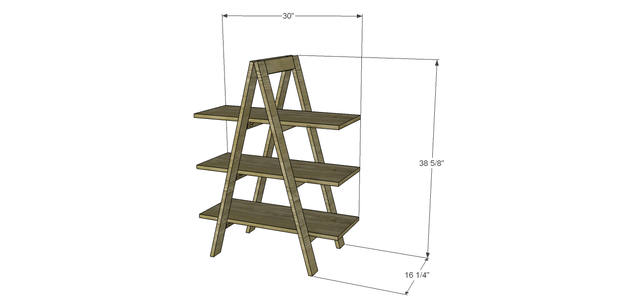 A frame bookshelf plans A frame designs