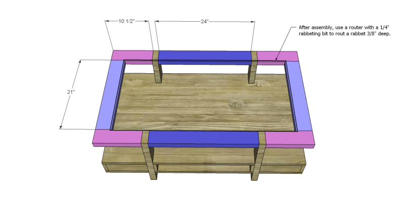 coffee table plans glass top drawers_Top
