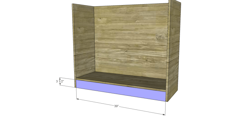wide chest drawers plans_Kick Plate