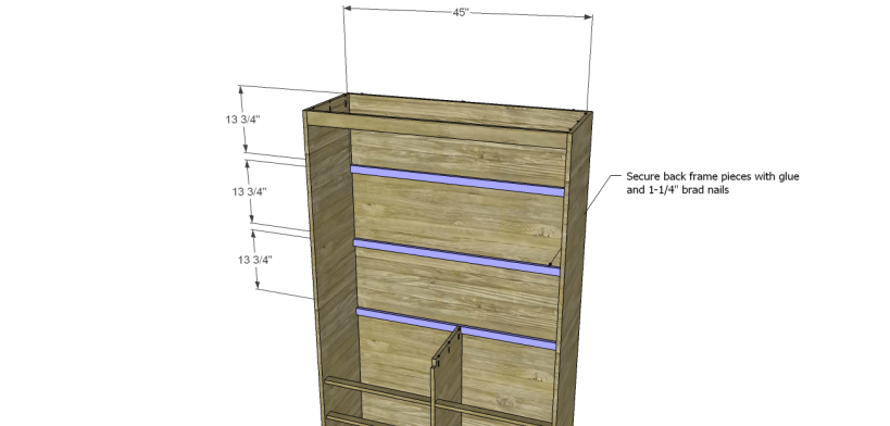 diy pantry armoire plans_Shelf Frames 1