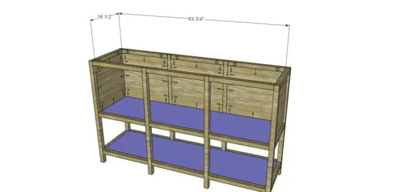 free furniture plans build sundown retreat sideboard_Bottom & Shelf
