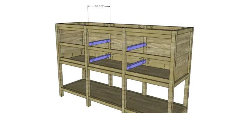 free furniture plans build sundown retreat sideboard_Drawer Spacers
