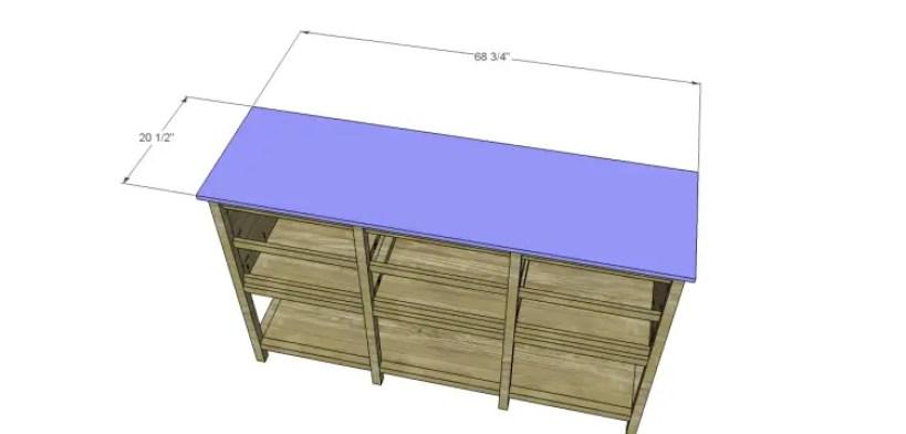 free furniture plans build sundown retreat sideboard_Top