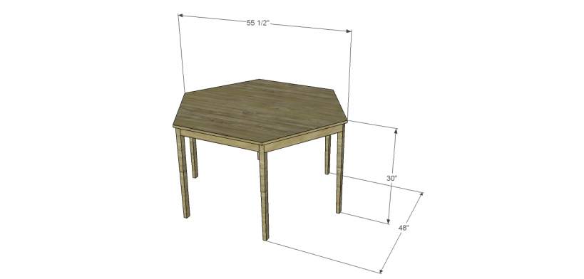 free furniture plans build hexagon dining table