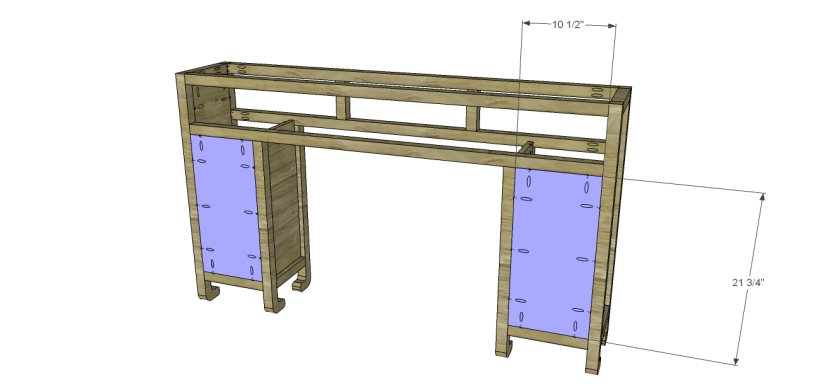 shanghai console table plans-Cubby Back